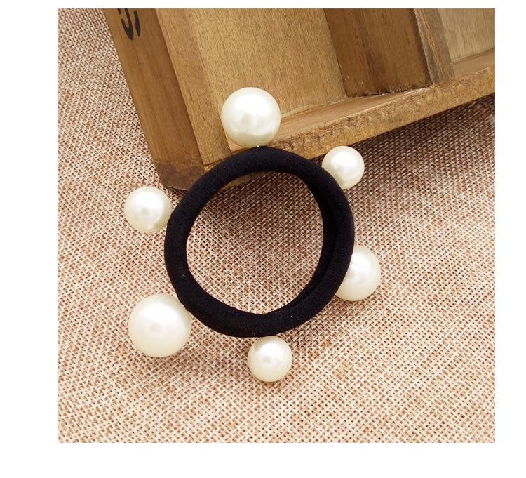 JuHu Meatball Head Artifact Seamless Pearl Towel Ring Hair Rope