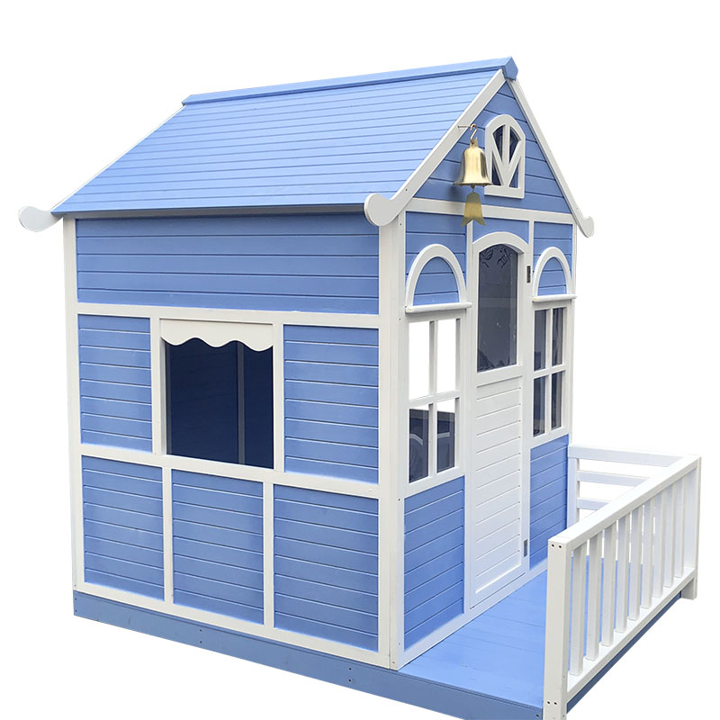 wooden outdoor diy playhouse painting wood for kid