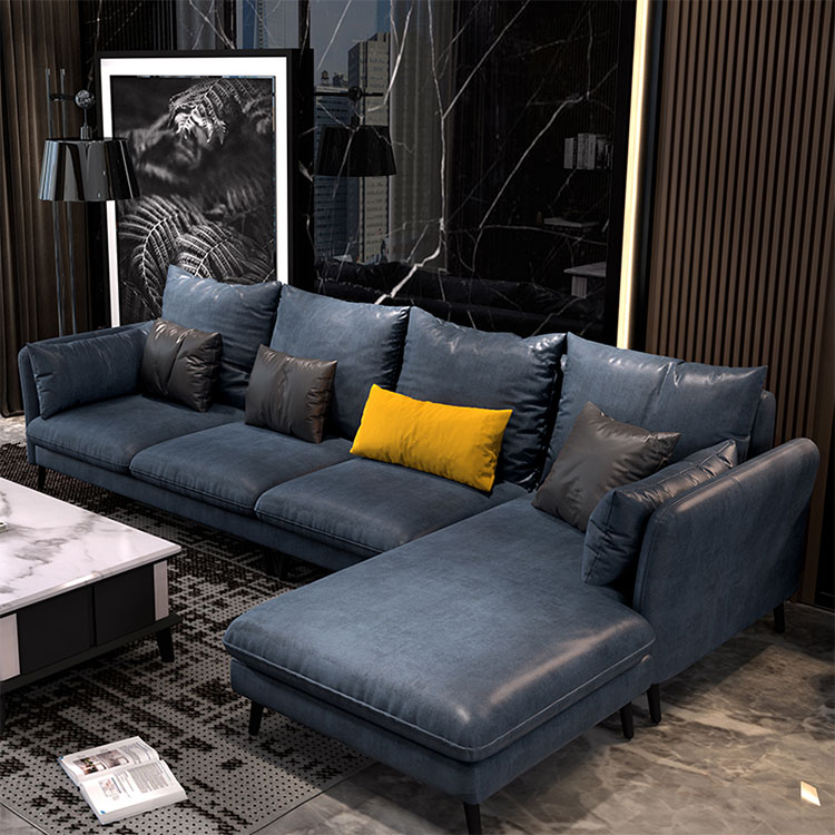 Italian cloth art  contracted north Europe living room combination of science and technology cloth small family sofa