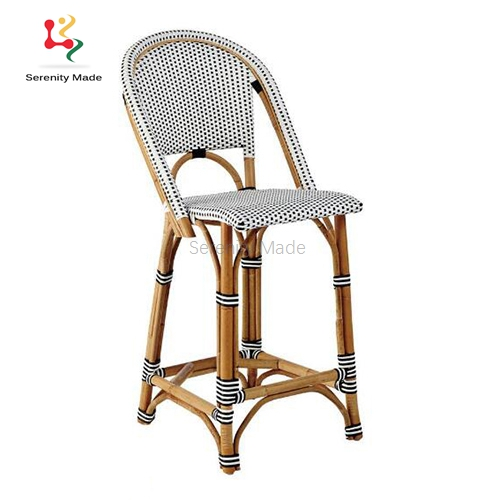 french style parisian bistro woven bar counter stools for kitchen
