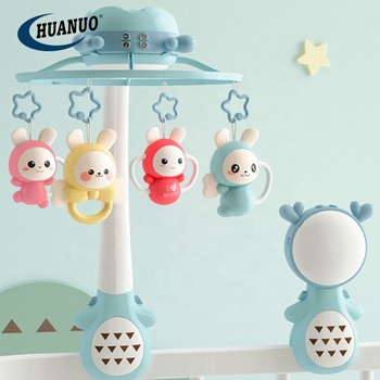 Multifunction baby appease projection remote control bed bell rotating music box baby mobile