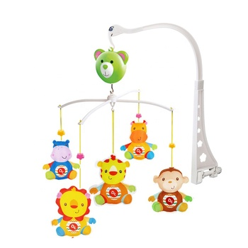 Latest New Musical Bed Bell Rattle Cartoon Animal Hanging Toys Music Mobiles Crib Baby Mobiles