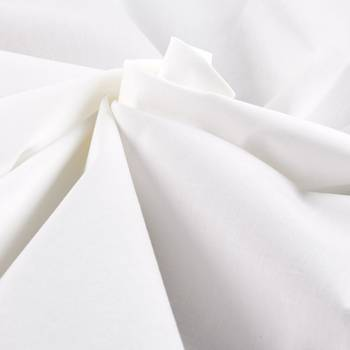 Yarn dyed 100% Cotton Blended Premium Muslin Fabric Bleached White