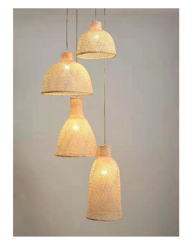 Лидер продаж, абажур, люстра для спальни, ресторана, бамбуковый фонарь, подвесной светильник из ротанга