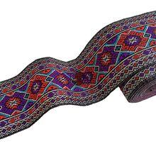 7 м/рулон Красивая Цветочная Лента кружевная ткань Сделай Сам Вышивка чистая кружевная отделка Украшение полиэстер сделай сам Ремесло(Китай)