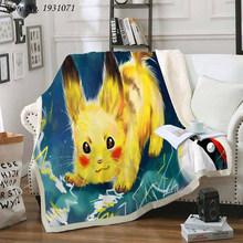 Флисовое одеяло с 3D принтом Покемон Пикачу для кроватей, толстое одеяло, модное покрывало, покрывало для взрослых, детей 09(Китай)