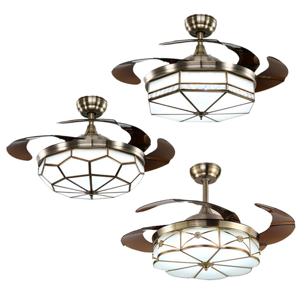 1 шт., оптовая продажа, изготовление на заказ, скрытые лопасти, потолочный вентилятор для столовой, декоративный потолочный вентилятор