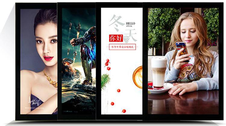 Яркий экран рекламный светодиодный лайтбокс рамка для постера подвесной лайтбокс алюминиевая большая панель меню