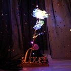 Gift Creative Valentines Day Gift Romantic Led Rainbow Galaxy Rose 24k Gold Dip Artificial Crystal Rose With Color Box