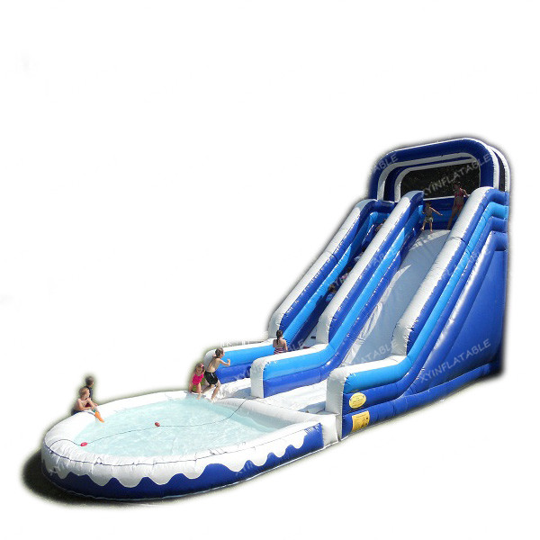 2021 Custom design cheap banzai inflatable water slide with pool