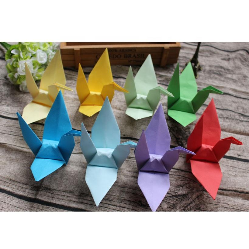 Grosir Burung Origami Berwarna Warni Buatan Tiongkok Buy Hot Sale Paper Cranes Origami Wholesale Custom Paper Origami Handmade Paper Cranes Origami Product On Alibaba Com