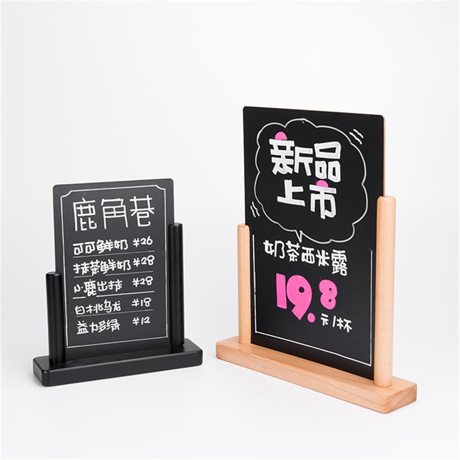 Custom Logo Restaurant Bar Wooden Menu Chalkboard A4 A5 Mini Blackboard - Yola WhiteBoard | szyola.net