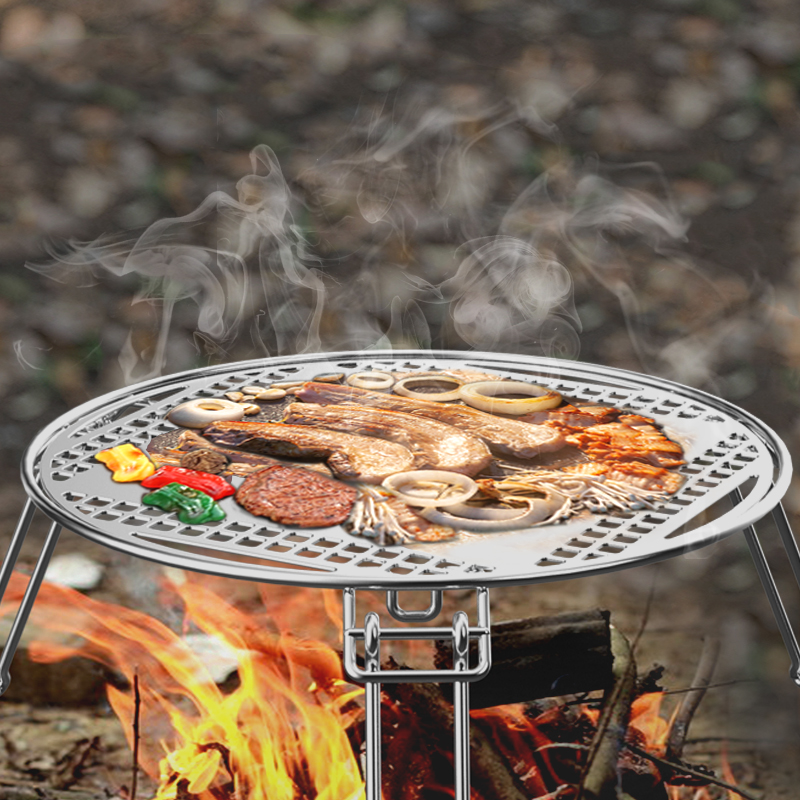 Portable BBQ Grill Foldable Stainless Steel Barbecue Grill For Outdoor