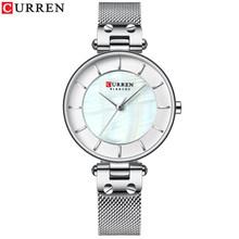 Часы CURREN женские, кварцевые, из стали, с сеточкой(Китай)