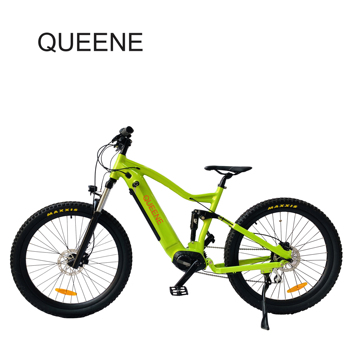 QUEENE/full suspension mid drive motor mtb mountain bike electric bicycle