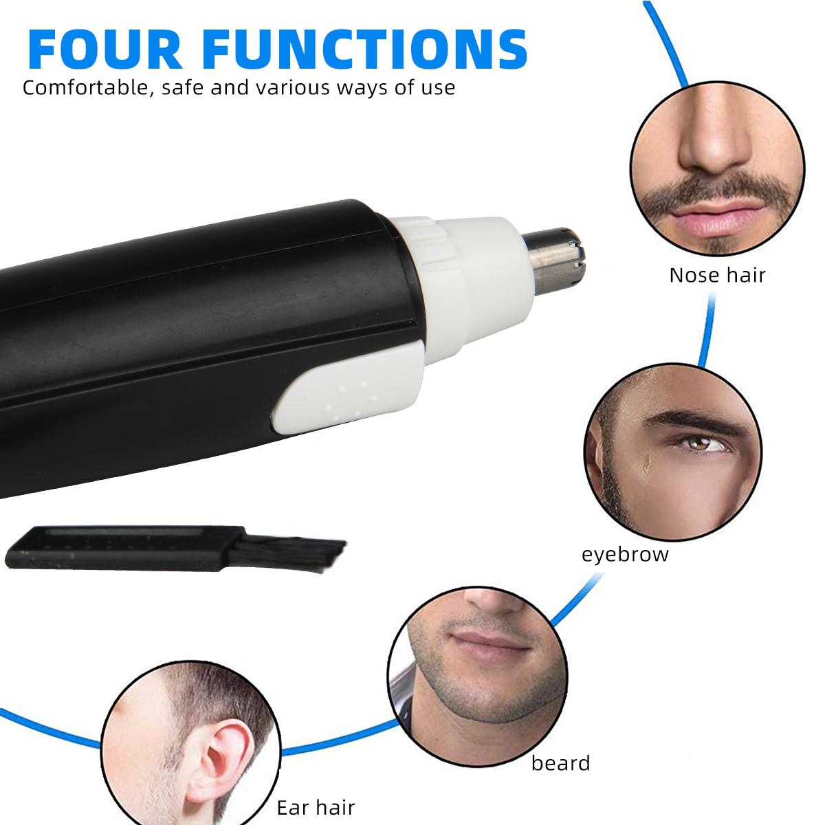 Высокое качество, низкие цены, беспроводной электрический триммер для удаления волос в ушах и носу для мужчин