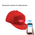 Year Halloween Lights Nightclub Halloween Birthday New Year Christmas Party Phone App Control Baseball Cap Light Up Magic Display LED Hat