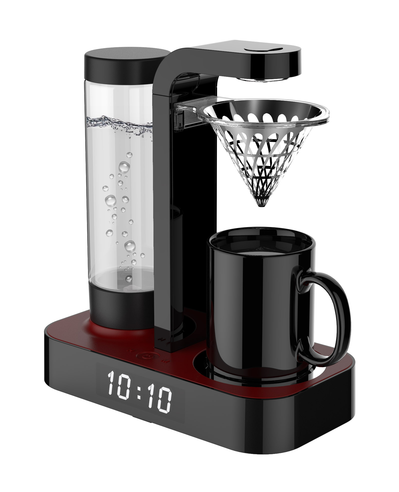 HOMEZEST CM-602 Fashionable Timer CAFETERA Machine Ice Drip COFFEE 0.5L 4 Maker CB Ce Hotel Household Hot Water System ROHS GS