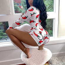Пижама женская, леопардовая, с длинным рукавом, Короткий комбинезон, сексуальные комбинезоны, Пижама для взрослых, ночное белье большого ра...(Китай)