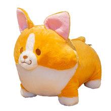 Милая плюшевая игрушка для собаки корги, мягкие куклы с животными, плюшевая подушка, декор для комнаты, Kawaii, подарок на день рождения для дет...(Китай)