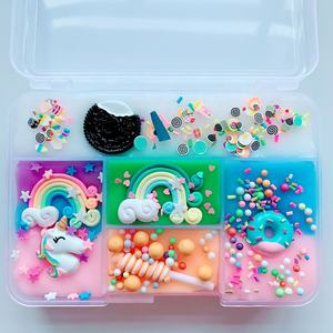 Hot Sale Individuality Colorful DIY Crystal Mud Kids Puzzle Toys Gift Five Grid Funny Charm Slime