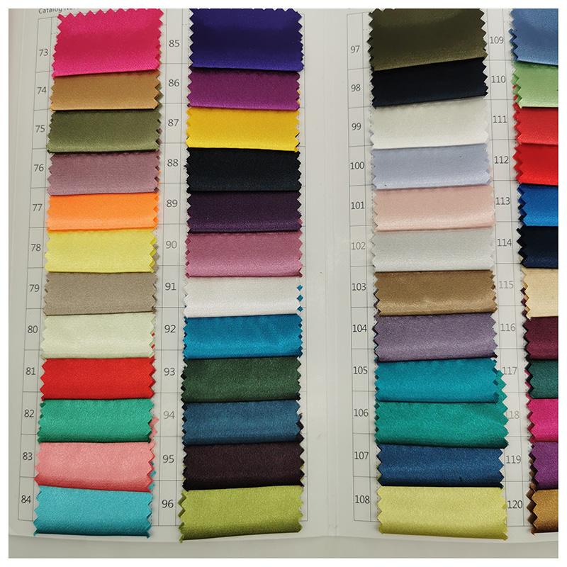 satin fabric NO MOQ shiny spandex polyester stretch satin fabric imitated silk satin fabric