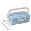 Blue box,wheat straw spoon, chopsticks