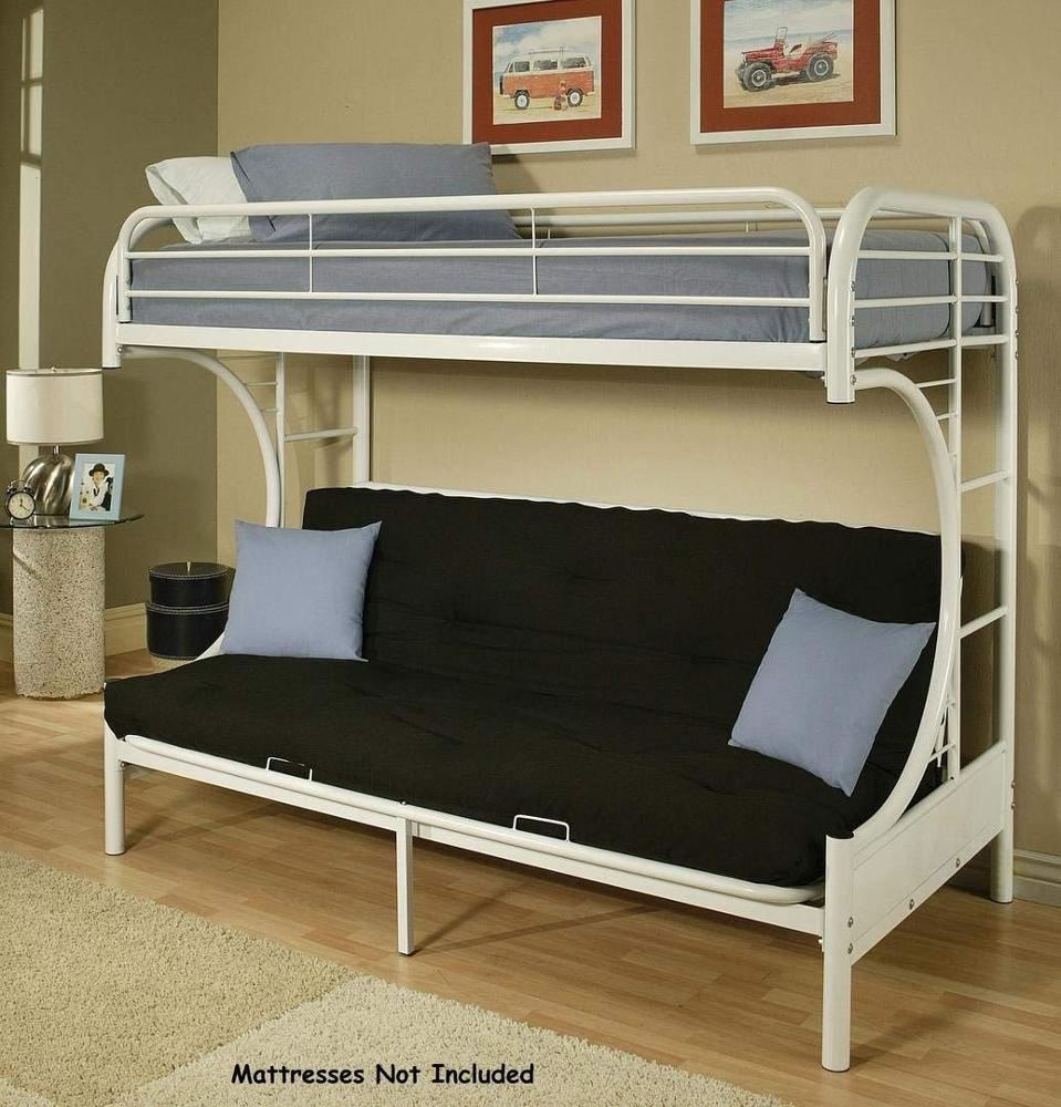 Metal Frame Base Futon Bunk Bed Twin Full White Buy Metal Bunk Bed Bunk Bed Bunk Beds With Stairs Product On Alibaba Com