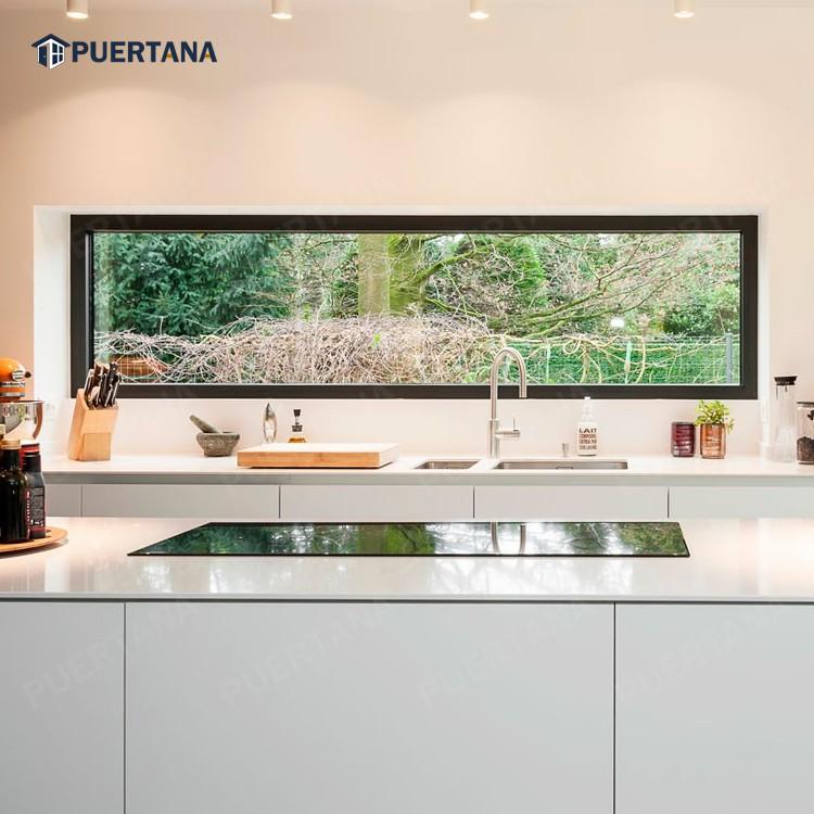 Алюминиевая фиксированная стеклянная панель, цена на окно с двойной панелью, цена