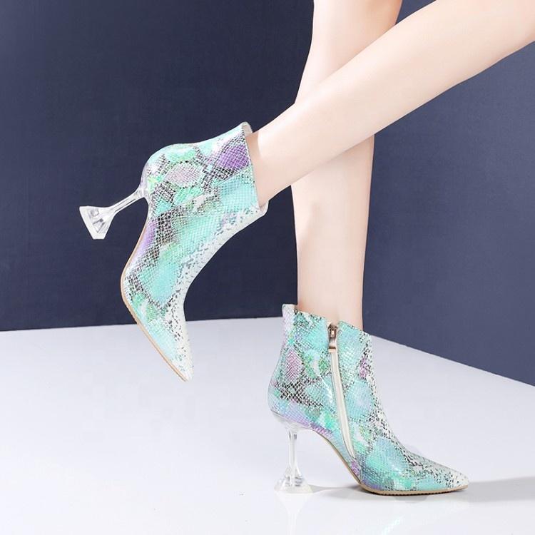 US12.5 Womens Ladies Snakeskin Pointed Toe High Heels Stilettos Clubwear Shoes