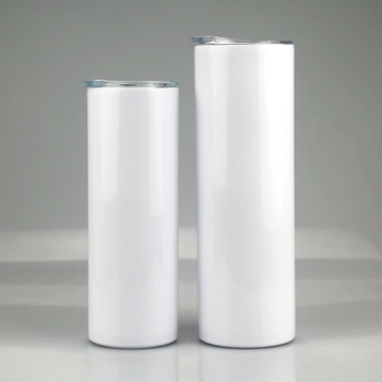 Wholesale 20oz 30oz Sublimation Blanks Straight Skinny Tumbler Double Wall Stainless Steel Tumbler Cups In Bulk