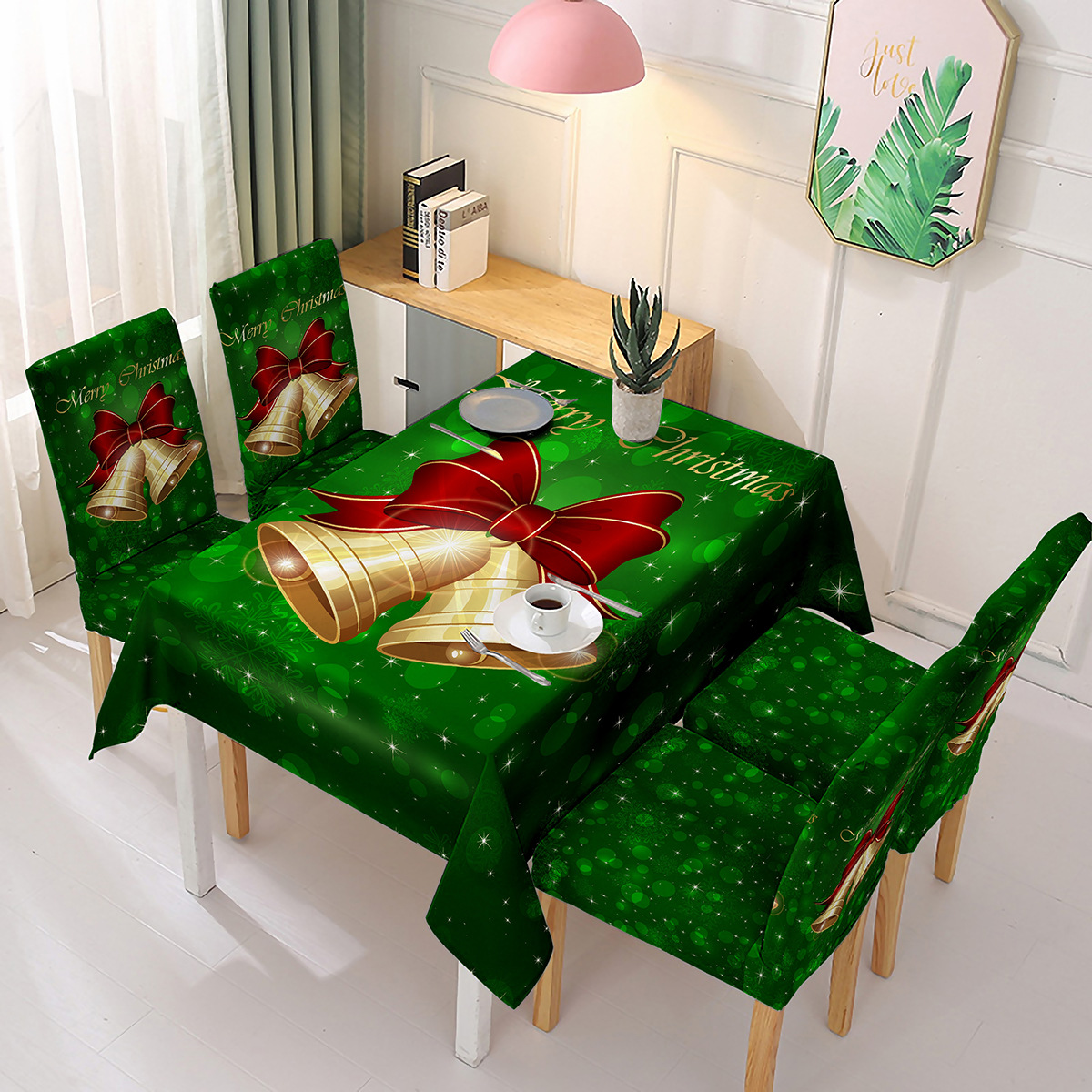 wholesale Christmas Chair Back Covers Kitchen Dinner Table Party Decoration