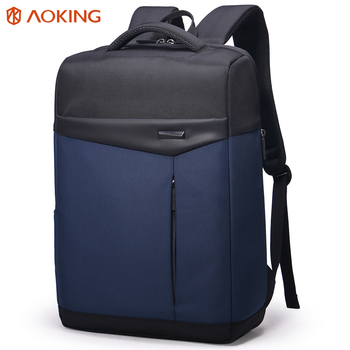 aoking personalized design laptop rucksack young adult urban business backpack with hidden pocket