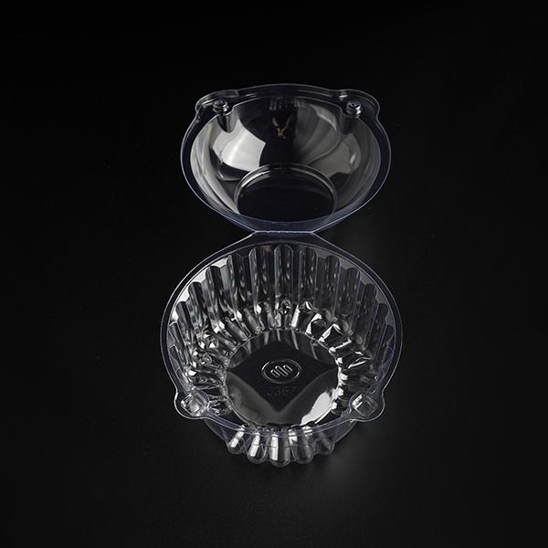 Plastik ambalaj kabı Pet kapaklı yuvarlak plastik kapaklı