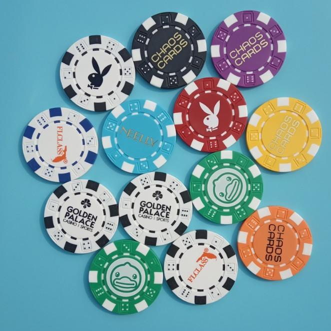 500 Pieces Design Logo Clay Poker Chips Set with Black Aluminium Case