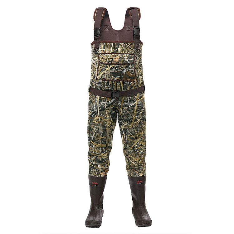 YIHENG Men's Camouflage Neoprene Chest Fishing Waders with Boots
