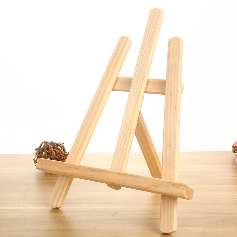 kids artist wood mini easel stand and canvas