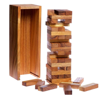 Wooden crafts Board Games Stacking Block Games of Tumbling Tower Game Classic Wood for Families and Kids