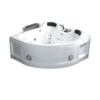 finished in glossy white with minimal detail jet whirlpool bathtub with tv K8818