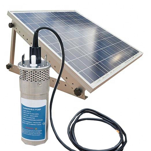 High Pressure Mini Solar Water Pump 12V 24V DC Deep Well Submersible Pump For Agriculture