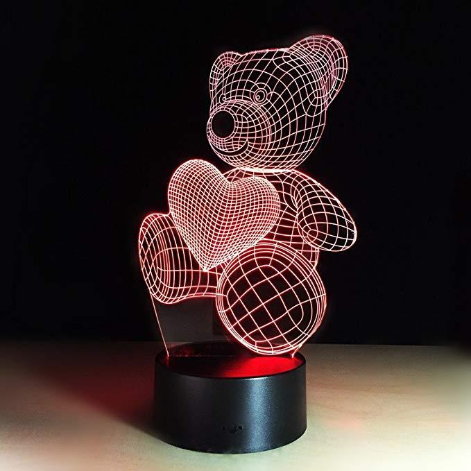 3D LED Night Light lamp acrylic 3d led lamp 3d lamp Bear