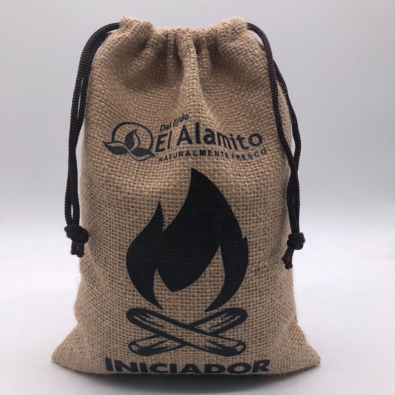 Джутовая Сумочка с принтом логотипа на заказ, кофейный Рождественский подарок, джутовая сумочка на шнурке, Коричневая хлопчатобумажная Джутовая сумка на шнурке