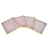 square rose quartz coaster