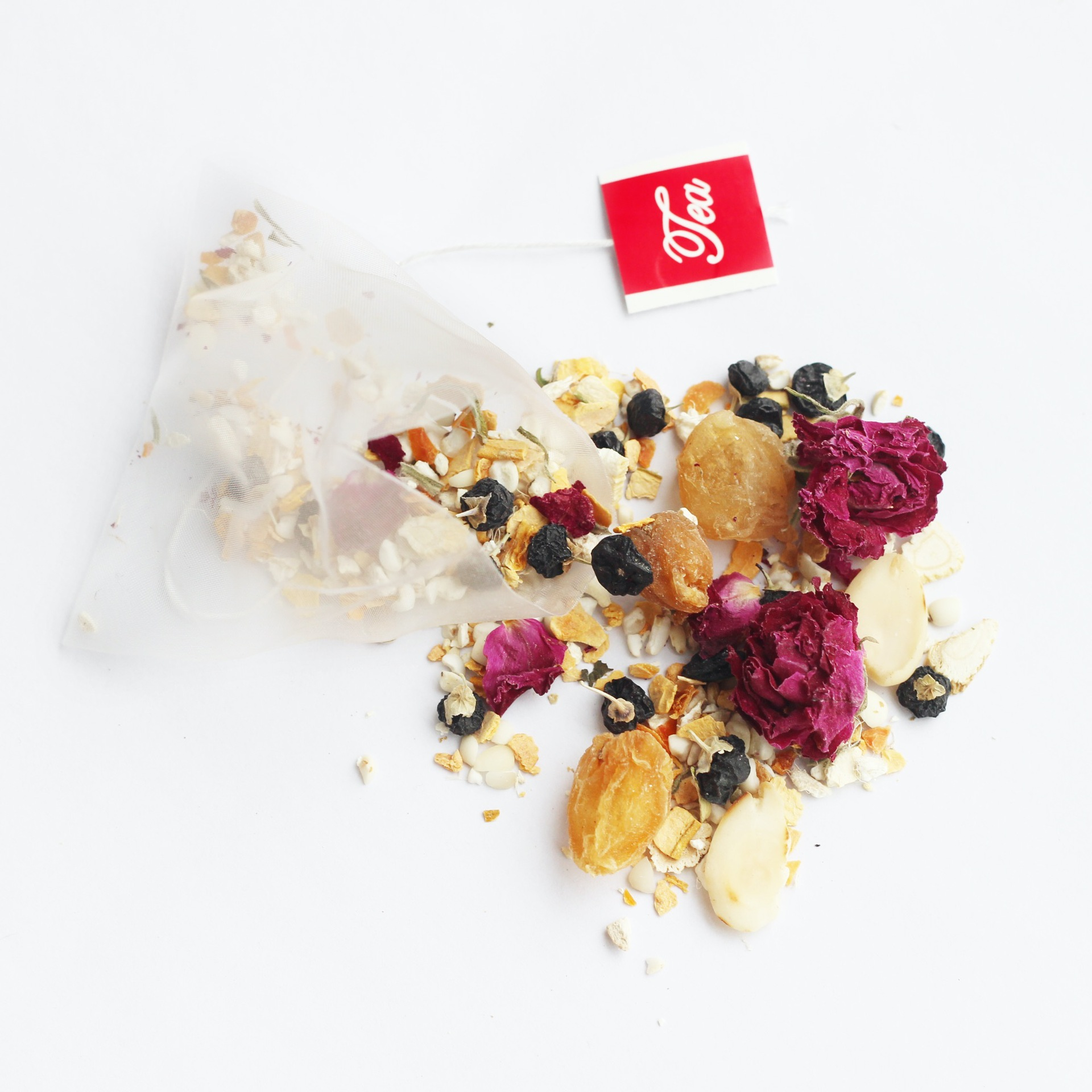 Private Label Wholesale Peach Blossom Petals&Dried Roses Chinese Herbal Tea Warm Stomach And Detox Slimming Tea Bags - 4uTea | 4uTea.com