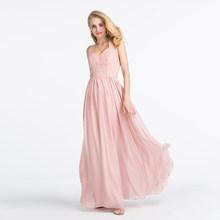 Alagirls элегантное платье подружки невесты с лямкой на шее и открытой спиной, светильник 2020, Розовое Кружевное длинное платье в пол, вечерние п...(Китай)
