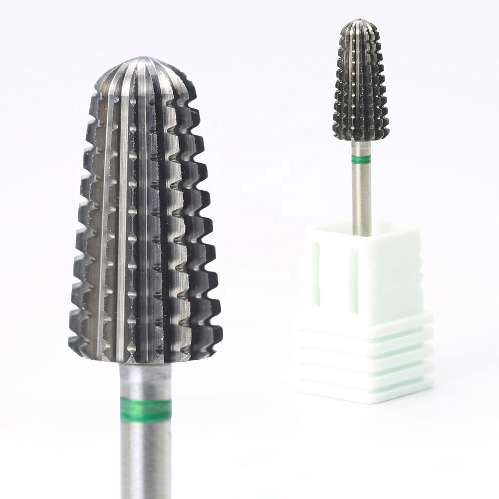 Professional Cutting Teeth Gel Remove Electric Filing Tungsten Carbide Manicure Volcano Bits for Nails Drill