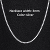 3mm Silver Necklace