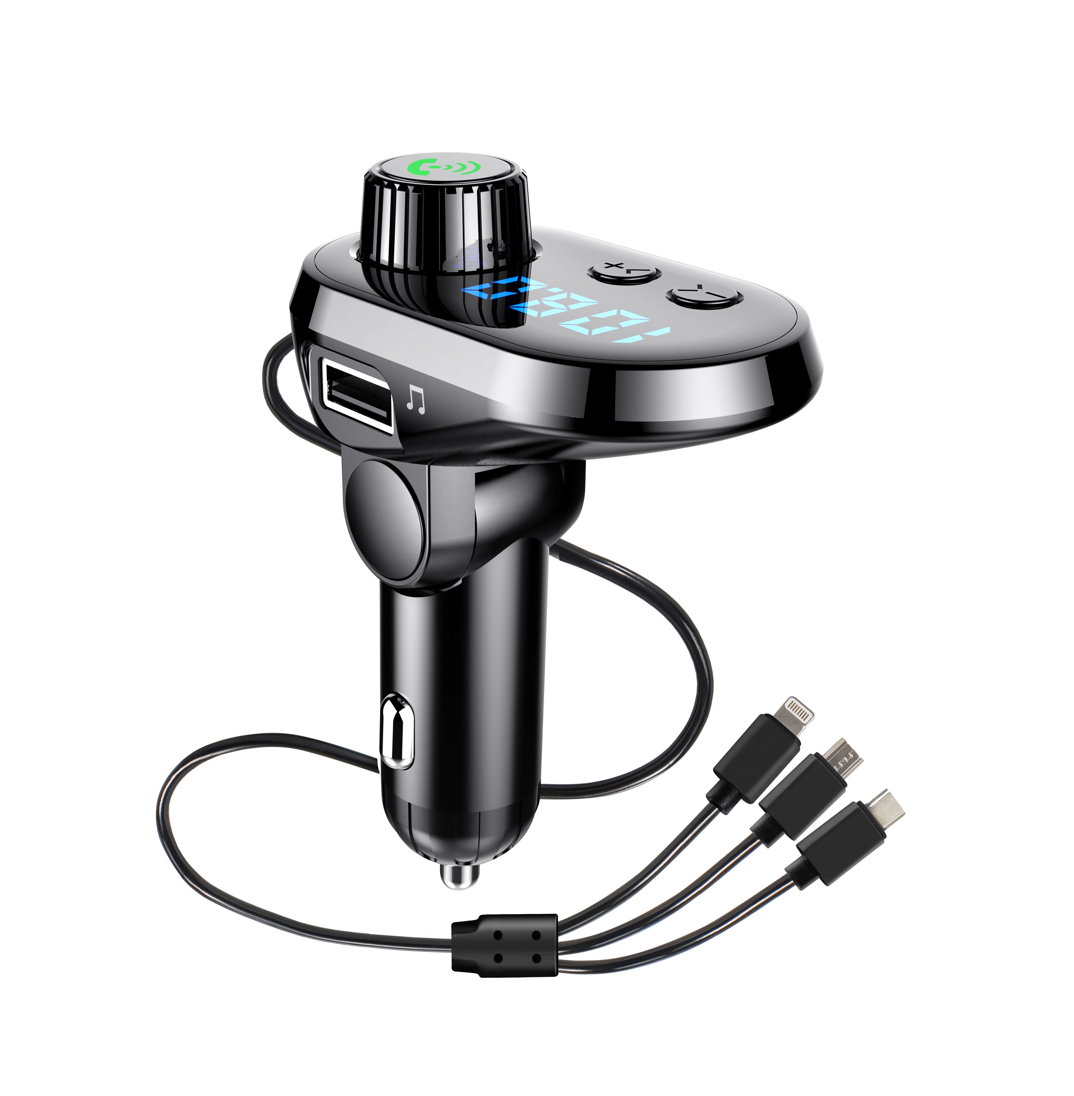 Good quality blue tooth FM transmitter car charger usb mp3 player