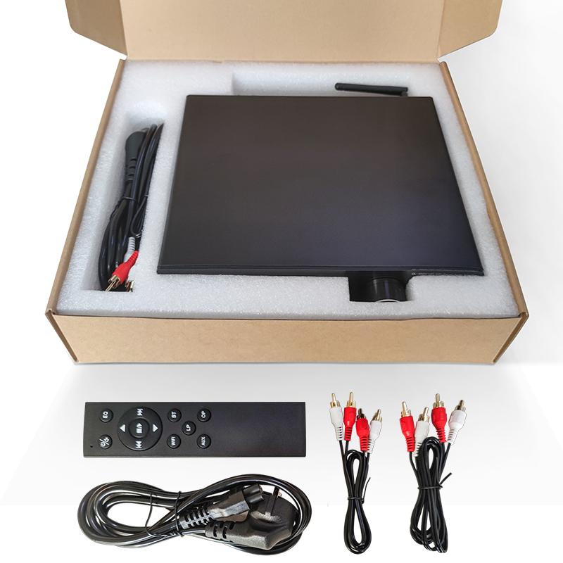 Airplay2 Multi-room HIFI Stereo Amplifier, BT H-DMI Vinyl MM Optical USB  RJ45 LAN Wifi Audio Power Amplifier