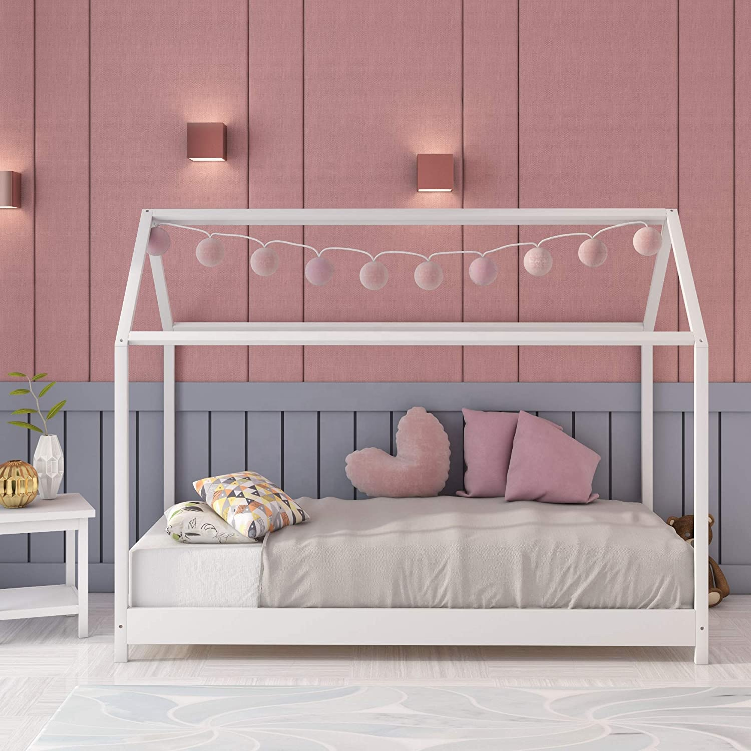 Solid Pine Wood Tree House Style Children Floor Bed Frame For Toddlers And Children Buy Baby Toddler Bed Kids Toddler Bed Children Toddler Bed Product On Alibaba Com